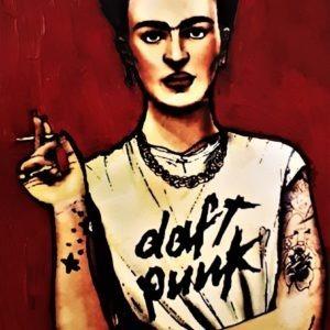 Reproduction Frida Kalo par l'artiste Pep's sur métal et disponible à la vente sur le site