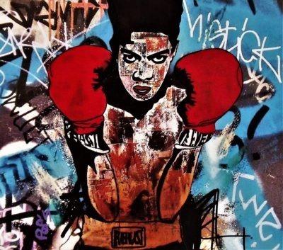 Reproduction Basquiat format carré Pep's