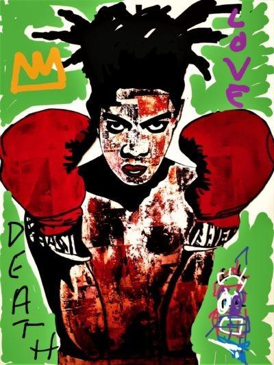 Reproduction de Basquiat par le peintre Pep's