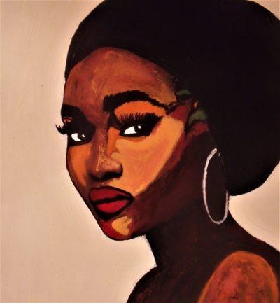 Black Lady peint sur métal par Pep's Artiste