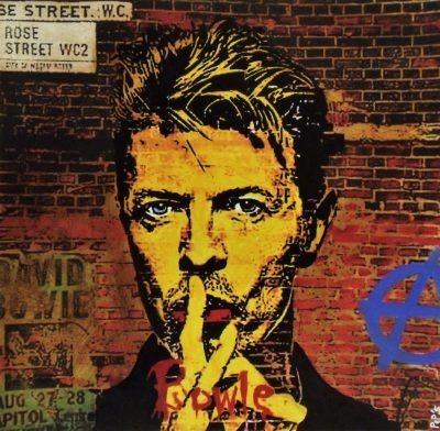 Bowie reproduit par l'artiste Pep's