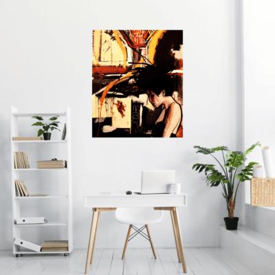 Se projeter avec le tableau sur toile Eureka dans un bureau