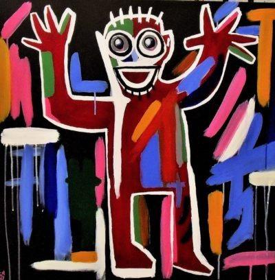 Tableau Happy coloré par Pep's Artiste peintre