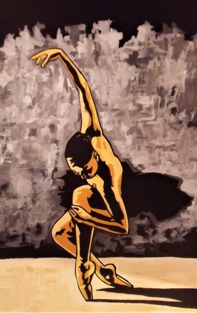 Oeuvre La Danseuse, production sur métal par Pep's