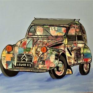 Reproduction de la célèbre voiture Deuch par Pep's Artiste peintre