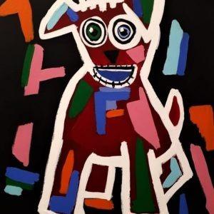 Le chien, un production sur métal de l'artiste Pep's