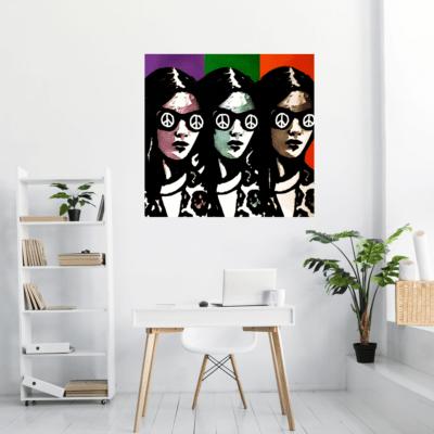 Mise en situation du tableau Pop Art