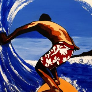 Le surfer tableau sur métal de Pep's artiste en vente sur son site