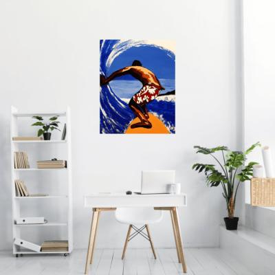 """Mise en situation du tableau """"le surfer"""" par l'artiste Pep's"""