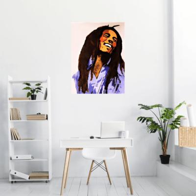 Le célèbre Bob Marley mis en situation en tableau