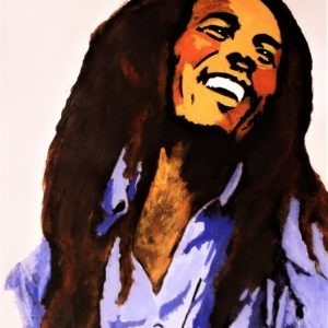 Bob Marley peint par Pep's, artiste peintre