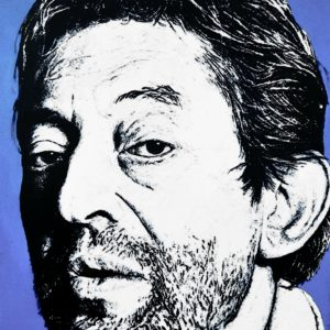 Tableau de Gainsbourg par le peintre Pep's